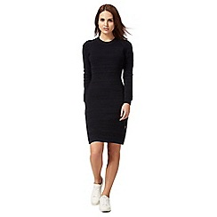 G-Star Raw - Dark grey ribbed dress