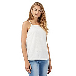 Red Herring - Ivory lace square neck top