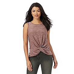 Red Herring - Pink knot front top