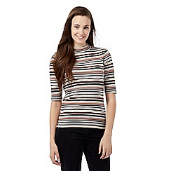 Red Herring - Multicoloured striped turtleneck top
