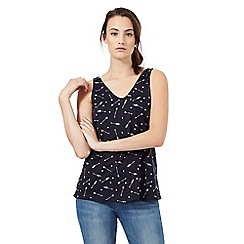 Red Herring - Navy arrow print vest top