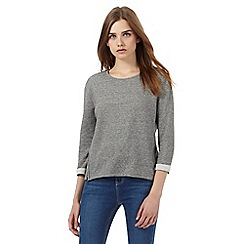 Red Herring - Grey ribbed side zip sweatshirt