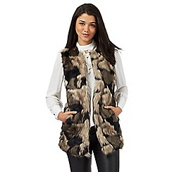 Red Herring - Brown faux fur gilet