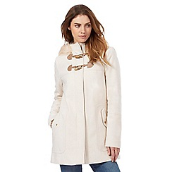 Red Herring - Pale pink faux fur hood trim duffle coat