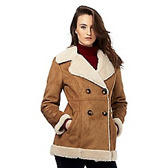 Red Herring - Tan sherpa lined coat