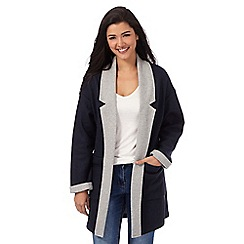 Red Herring - Navy contrast blanket coat