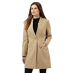 Red Herring - Tan notch neck coat