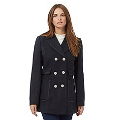 Red Herring - Navy double breasted military peacoat