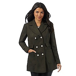 Red Herring - Khaki military style pea coat