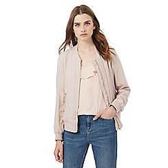 Red Herring - Pale pink bomber jacket
