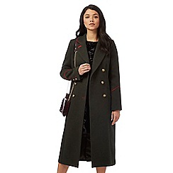 Red Herring - Khaki long-line military coat