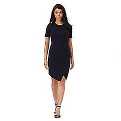 Red Herring Petite - Navy wrap petite dress