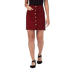 Red Herring Petite - Red A-line denim skirt