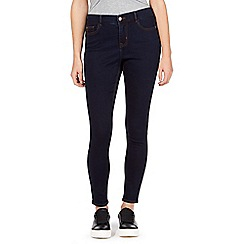 Red Herring Petite - Blue 'Holly' super-soft skinny jeans