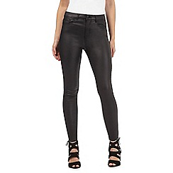 Red Herring Petite - Holly mid rise supersoft skinny coated jeans