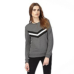 Red Herring - Grey chevron stripe sweater