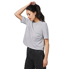 Red Herring - Grey pleated striped back top