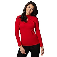 Red Herring - Red turtle neck top