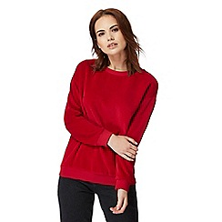 Red Herring - Red velour sweater