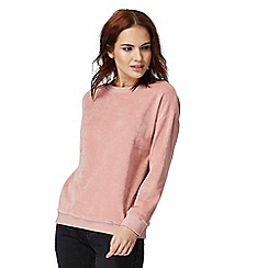 Red Herring - Light pink velour sweater