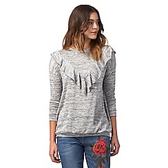 Red Herring - Grey ruffled top