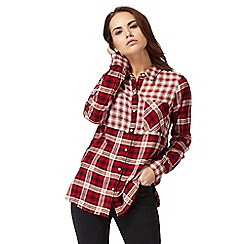 Red Herring - Red patchwork checked shirt