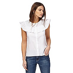 Red Herring - White frill yoke blouse