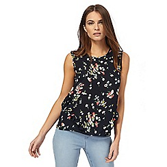 Red Herring - Navy floral print shell top