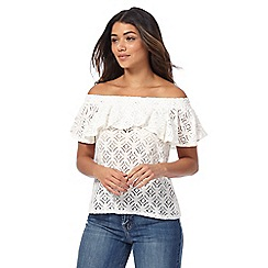 Red Herring - Ivory lace bardot top