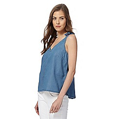 Red Herring - Blue chambray shell top