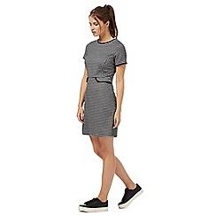 Red Herring - Navy check print dress