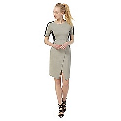 Red Herring - Grey knee length pencil dress