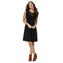 Red Herring - Black lace skater dress