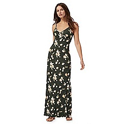 Red Herring - Green floral print maxi dress