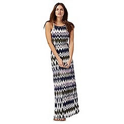 Red Herring - Multi-coloured zigzag print maxi dress