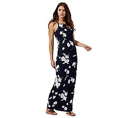 Red Herring - Navy floral print maxi dress