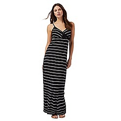 Red Herring - Blue striped v-neck maxi dress