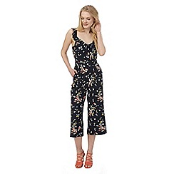 Red Herring - Navy daisy jumpsuit