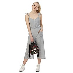 Red Herring - Grey stripe print jumpsuit
