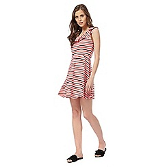 Red Herring - Red striped skater dress
