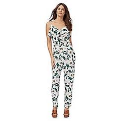 Red Herring - White floral print jumpsuit