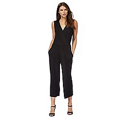 Red Herring - Black frill culottes jumpsuit
