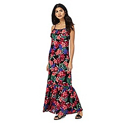 Red Herring - Multi-coloured tropical floral print maxi dress