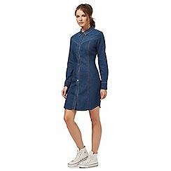Red Herring - Blue denim button down dress