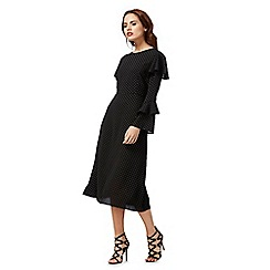 Red Herring - Black dot print midi dress
