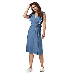 Red Herring - Blue wrap denim dress