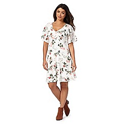 Red Herring - Ivory floral print dress