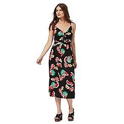 Red Herring - Black watermelon print dress