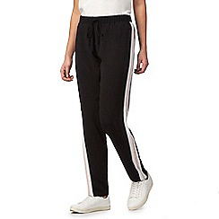 Red Herring - Black and pink stripe detail sporty trousers