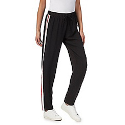 Red Herring - Black and red stripe detail sporty trousers